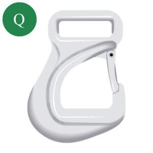 Green Pin large eye hook