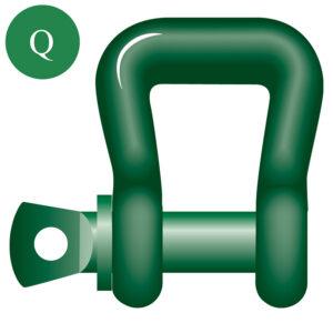 Green Pin web sling shackle