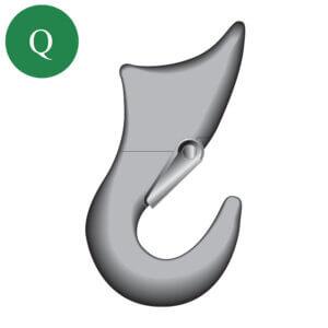 Green Pin alloy sliding choker hook